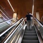 On the escalator — Stock Photo
