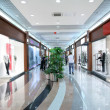 Corridor in the commercial center — Stock Photo