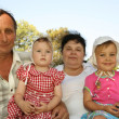 Grandmother with grandfather and grandchild — Stock Photo