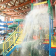 Waterfall in aquapark — Stock Photo
