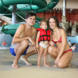 Family in aquapark — Foto de Stock