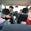 Family in car 2 — Stock Photo #7434385