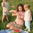 family picnic — Stock Photo #7434411