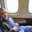 Stock Photo: Child sit in plane