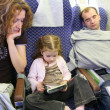 Stock Photo: Family in plane