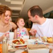 Dining family — Stock Photo