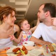 Stock Photo: Dining family
