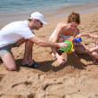 Familly na praia 2 — Foto Stock