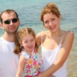 family beach — Stock Photo