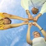 Fist family sky — Stock Photo #7435646
