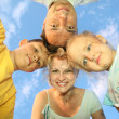 Family sky — Stock Photo