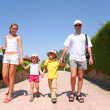 Stock Photo: Family on resort