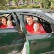 Royalty-Free Stock Photo: Family sitting in car 2