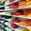 Towels in shop — Stock Photo