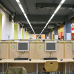 Interior of internet cafe — Stock Photo #7436181