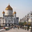 The Cathedral of Christ the Savior in Moscow - Stockfoto