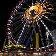 Stock Photo: Ferry wheel at night 2