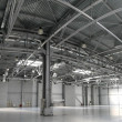 Hangar warehouse panorama — Stock Photo