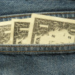 Close-up of money in the pocket 2 — Stock Photo