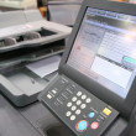 Screen of printed equipment — Stock Photo #7437380