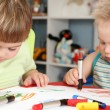 Children drawing — Stock Photo
