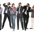 Stock Photo: Paparazzi 2 isolated
