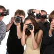 Stock Photo: Five photographers