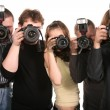 Stock Photo: Five photographers 2