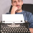 Stock Photo: Mand typewriter 2
