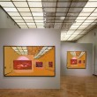 Art gallery 7. All pictures on wall just filtered whole this photo — Stockfoto