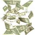 Долларов осенью изолированные на белом фоне 3 — Стоковое фото