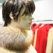 Mannequin woman with fur — Stockfoto