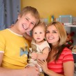 Parents and son in playroom — Stock Photo #7438497
