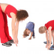 Mother and children training 2 — Stock Photo #7438785