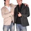 Two friends gives gesture — Foto de Stock