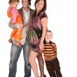 Young family with children 2 — Stock Photo