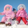 Three children in snow — Stock Photo #7439670