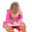 Little girl drawing — Stock Photo #7439761