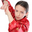 Stock Photo: Kung fu girl blow