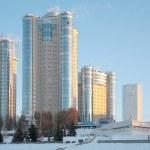New buildings in Samara in winter 2 — Stock Photo