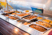 Meal in lunch counter at public catering restaurant — Stock Photo