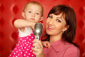 Portrait of mother and doughter — Stock Photo