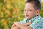 Portrait of little boy — Stock Photo