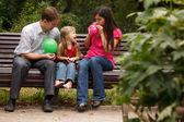 Family outdoor — Stock Photo