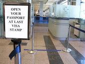 Passport visa sign — Stock Photo