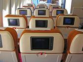 Airplane salon tv — Stock Photo