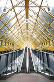 On footbridge — Stock Photo