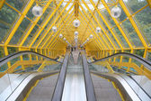 The escalator of pedestrian bridge — Stock Photo