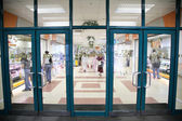 The entrance into the supermarket — Stock Photo