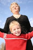 Grandmother with the grandson — Stock Photo